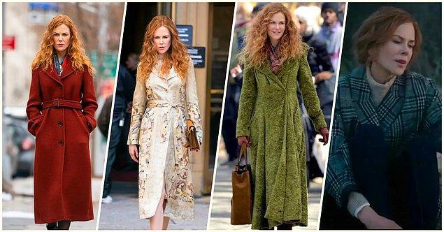 Dizi çıktığı ilk andan itibaren Nicole Kidman'ın yaptırdığı estetikler kadar dizi boyunca giydiği paltolar da ayrıca gündeme geldi...