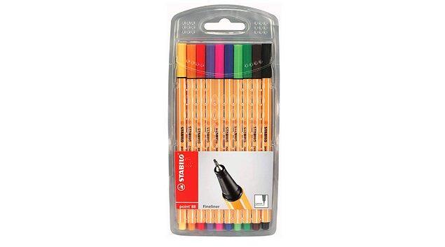 9. Ders çalışmayı eğlenceli hale getiren kalemler.