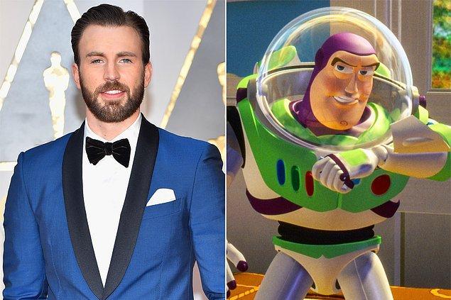 16. Buzz Lightyear'a özel bir film geliyor. Seslendirmeyi Chris Evans yapacak.