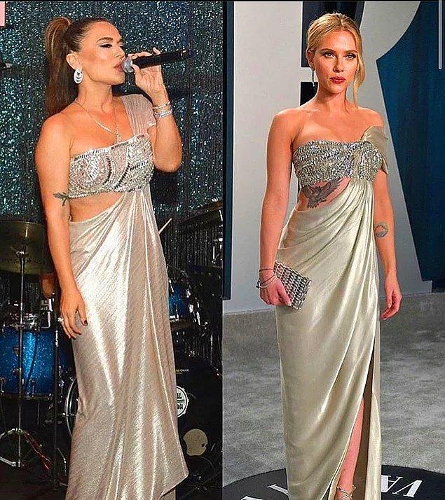 8. Demet Akalın'ın bu yıl giydiği bu elbise, Scarlett Johansson'ın geçtiğimiz yıl giydiği bir elbisenin aynısıydı.