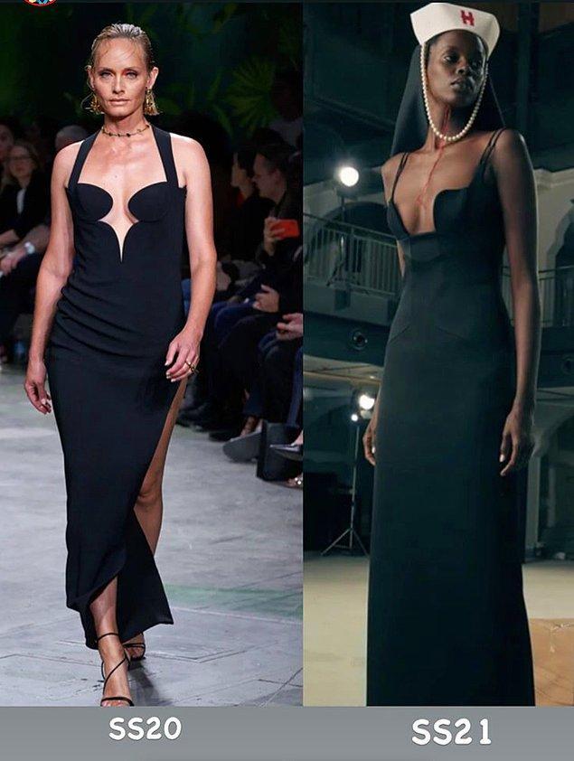 11. Hakan Yıldırım'ın 2021 İlkbahar Yaz koleksiyonu, Versace'nin 2020'de çok ses getiren tasarımlarına benzetildi.