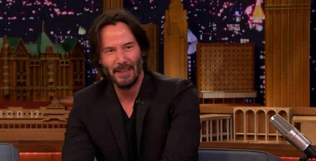"""47. Keanu Reeves, Jimmy Fallon'a adını zamanında neredeyse """"Chuck Spadina"""" veya """"Templeton Paige Taylor"""" değiştireceğini söylemiş."""
