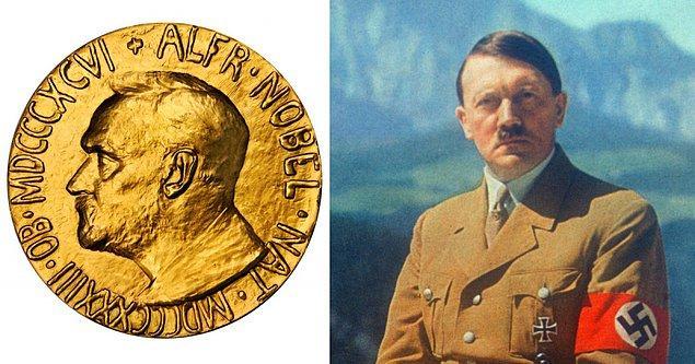 7. Hitler, 1939 yılında Nobel Barış Ödülü'ne aday gösterildi.