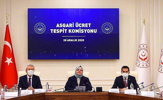 Aile, Çalışma ve Sosyal Hizmetler Bakanı Zehra Zümrüt Selçuk, asgari ücreti açıkladı. Net asgari ücret, yüzde 21.56 oranında yani 500 TL'lik artışla 2 bin 825 TL oldu.