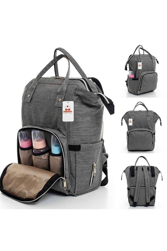 18. Ebeveynlerin uzun yıllar yanlarından ayıramadığı tek eşya bebek bakım çantası oluyor.