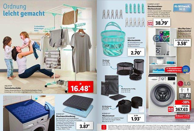 Çamaşır makinesi de 367 Euro...