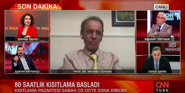 CNN Türk'te Prof. Dr. Mehmet Ceyhan, Hakan Bayrakçı, Semiha Şahin, Mehmet Metiner ve Zafer Şahin'in katıldığı bir yayın gerçekleşti.