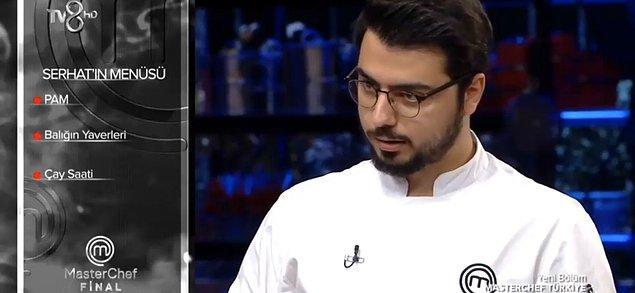 Büyük finalde yarışmacılar ilk etapta Türk yemekleri konseptinde belirledikleri menüyü yaptılar.