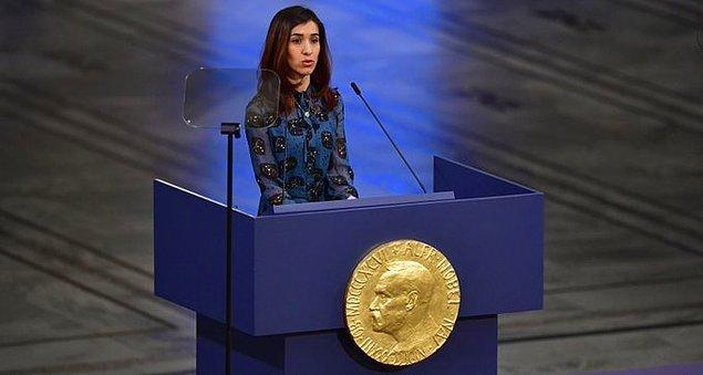 3. 2018 yılında Nadia Murad, Irak'tan Nobel Ödülü kazanan ilk kişidir.