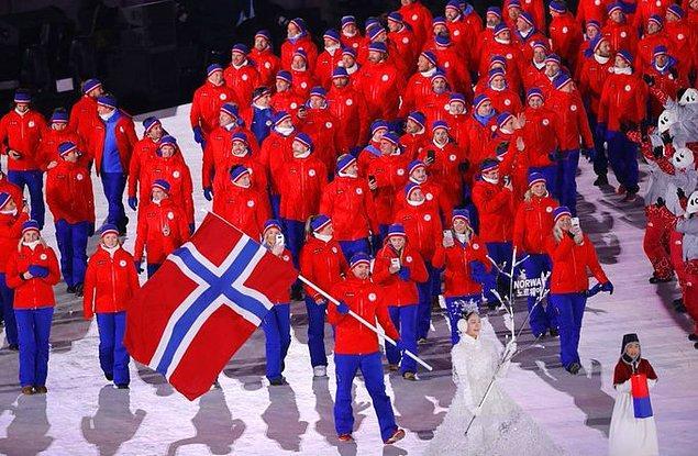 10. Kış Olimpiyatları'nda en çok altın madalya alan ülke 39 madalya ile Norveç'tir.