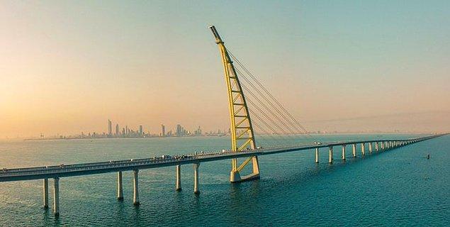 23. Dünyanın en uzun köprüsü Kuveyt'tedir.