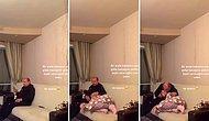 Bir Anda Babasının Bacağına Yatan Genç Kız ve Babasının Verdiği Muhteşem Tepki