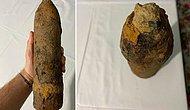Toprağı Kazdı Patlamamış Havan Mermisi Buldu
