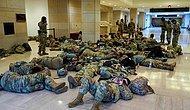 ABD Kongre Binasında Yerlerde Yatan Ulusal Muhafızlar Gündem Oldu