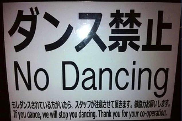 4. Asla gece geç saatlerde dans edemezsiniz.