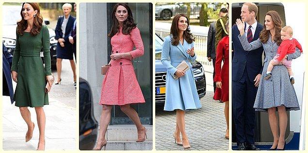1. İngiltere Kraliyet ailesinin güzeller güzeli düşesi Kate Middleton'un giyim tarzını hepimiz az çok beğeniyoruz.