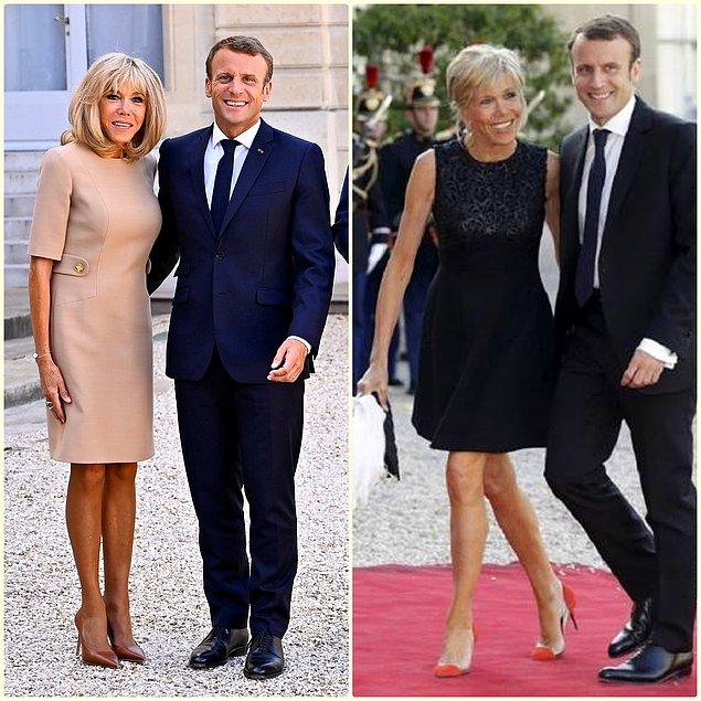 9. Fransa First Lady'si sade ve şık kıyafet tercihleriyle göz dolduruyor.