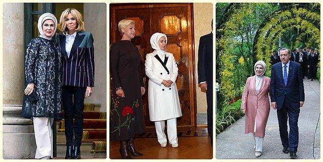 10. Emine Erdoğan'da ülkemizin first ladysi olarak giyimiyle adından sıkça söz ettiriyor.