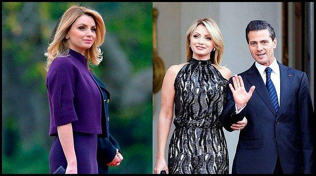 19. Güney Amerika'da sevilen Meksika first ladysi Angelica Rivire.