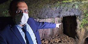 Tarsus'ta Sular Çekildi, Kaya Mezarları Ortaya Çıktı