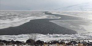 Çıldır Gölü Buzların Erimesiyle Adeta İkiye Bölündü