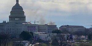 Binadan Dumanlar Yükseliyor: ABD Kongre Binası Güvenlik Gerekçesiyle Kapatıldı