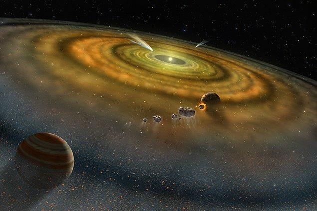 2015'te ise şimdiye kadar yapılan açıklamalara ışık tutacak iki çalışma yapılır. Bunlardan birinde görülür ki Güneş Sistemi oluşurken dolanan ve çarpışan cisimlerin yapıların benzerlik oranı %20 civarındadır.