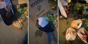 Çöpten Sağlam Kalan Gıdaları Ayıklayan Yaşlı Kadına Alışveriş Yaparak Sevindiren Güzel İnsan