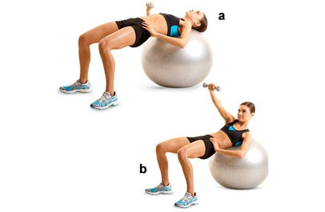1. Stability ball chest press