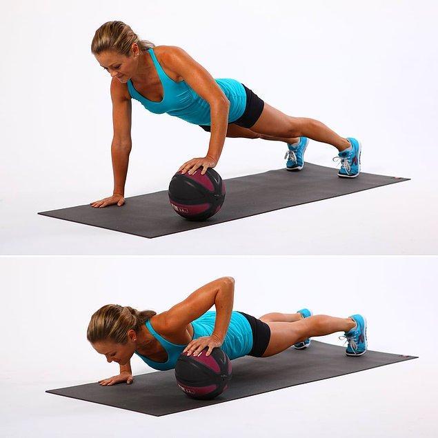 4. Medicine ball push up
