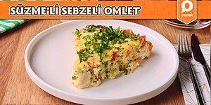Kahvaltı Sofralarına Çok Yakışacak Süzme'li Sebzeli Omlet Nasıl Yapılır?