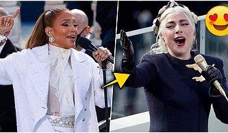 Lady Gaga ve Jennifer Lopez'in Giydikleri Kıyafetler Biden'ın Yemin Töreninde Damga Vurdu!
