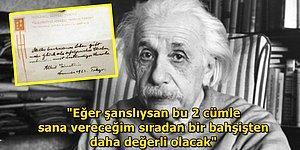 Einstein'ın Kendisine Dosya Getiren Komiye Verdiği Bir Cümlelik Notun 1.5 Milyon Dolara Satılış Hikayesi