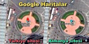 Taksim'in Uydu Görüntüsü Google'ın Türkiye Uzantısında Neden Bulanık da Alman Sitesinde Cam Gibi?