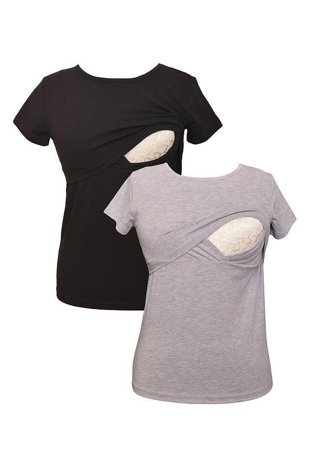 17. S-XL arası beden seçeneği bulunan emzirme tişörtleri indirimdeyken havada kapılmalı bence. Emzirirken konfor diye ben buna derim :)