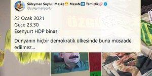 HDP Binasındaki Öcalan Posterlerini Paylaşan Soylu: 'Hiçbir Demokratik Ülkede Buna Müsaade Edilmez'