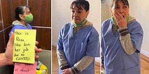 Pandemide İşini Kaybeden Temizlik İşçisi Kadın İçin Çalıştığı Binadaki İnsanlardan Duygulandıran Sürpriz