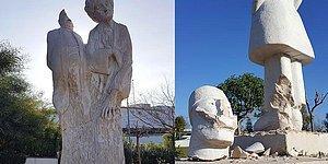 Antalya'da Heykel Terörü: Vandallar Kafalarını ve Parmaklarını Kırdı
