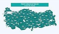 Türkiye'nin Aşı Haritası Erişime Açıldı