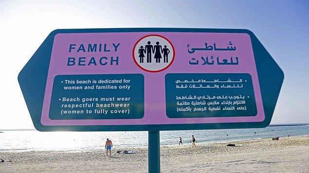 15. Ailelere özel plajlar bulunuyor.