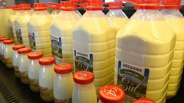 Halk süt endüstriyel ürünmüş