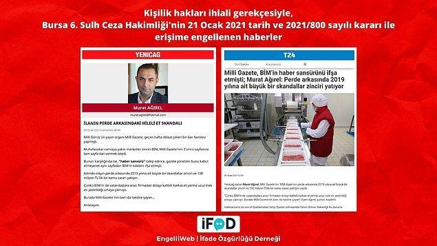 Yeniçağ yazarı Murat Ağırel'in hileli et skandalı ile ilgili yazısı, kişilik hakları ihlali gerekçesiyle erişime engellendi.