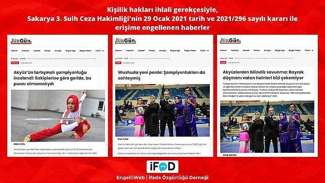 Babası Türkiye Wushu Federasyonu Başkan Vekili ve annesi milli takım antrenörü olan Elif Akyüz ile ilgili haberler, kişilik hakları ihlali gerekçesiyle erişime engellendi.
