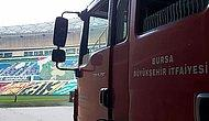 Bursa Büyükşehir Stadı'nda Çıkan Yangın Paniğe Neden Oldu