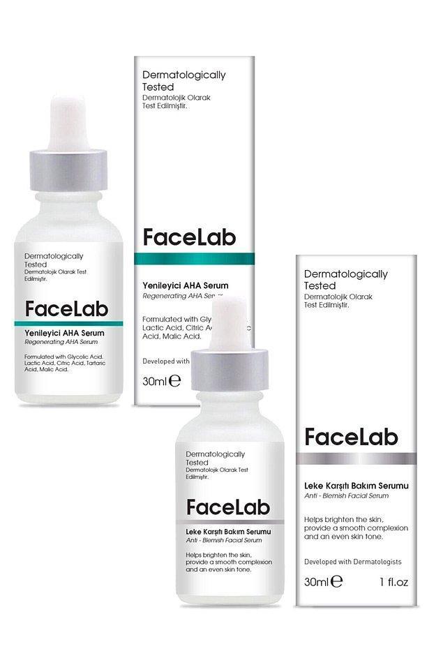 Cilt lekeleri için en çok önerilen markalardan biri FaceLab.