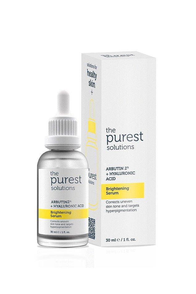 Cilt lekelerini giderici ve cilt tonunu eşitleyici bir diğer önerim de The Purest Solutions serum.