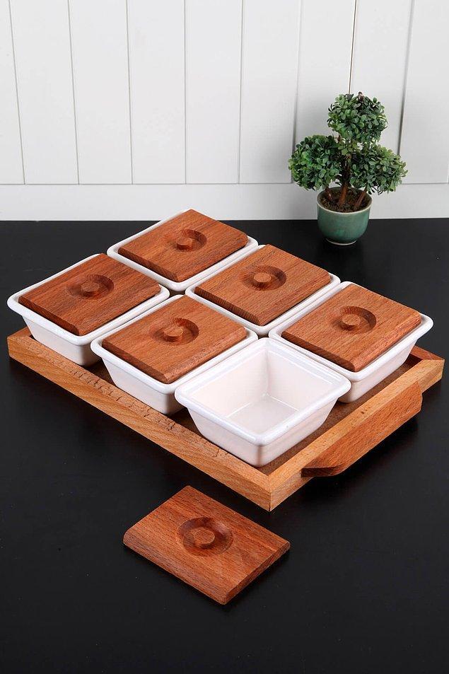 5. Kahvaltılıkları saklamak içinse bu şekilde kapaklı kaplar oldukça kullanışlı oluyor.