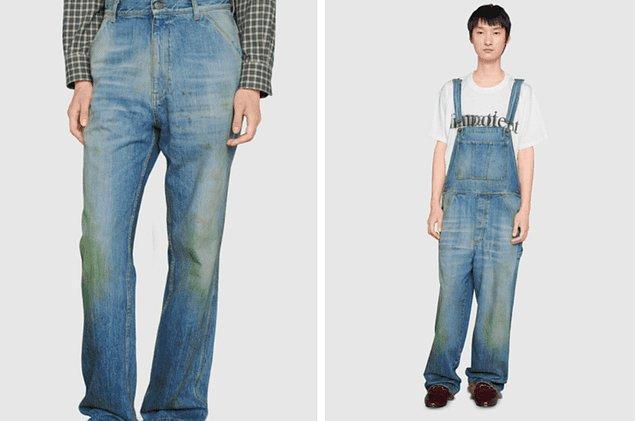 3. Doğal çim lekeli kot pantolona dünyanın parasını vermek mi? Harika fikir.