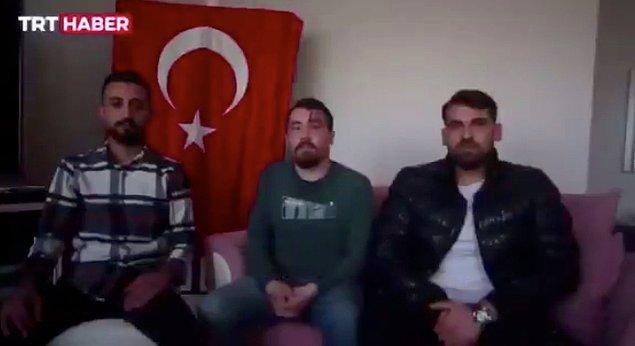 Videodaki üç kişi göstericilerin kendilerine 'Bunlar sivil polis öldürün' diye saldırdığını iddia etti...