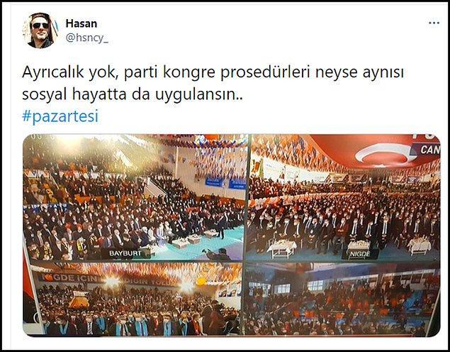Kongrelerdeki kalabalıkları eleştiren vatandaşlar ise sosyal medyada bu paylaşımları yaptı 👇